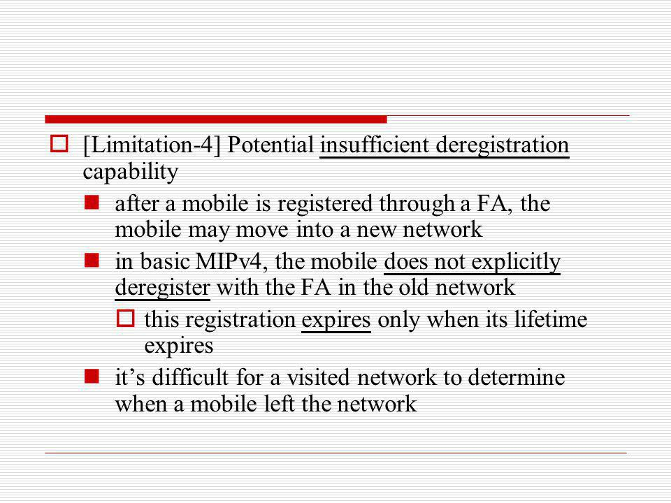 [Limitation-4] Potential insufficient deregistration capability